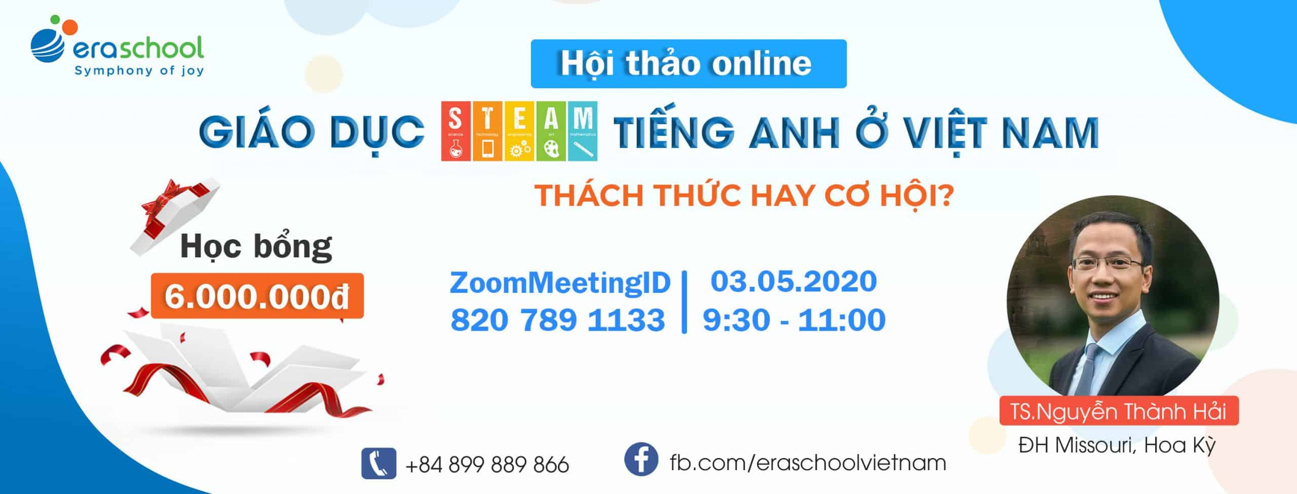 Cover Fanpage Hội Thảo Online Eraschool